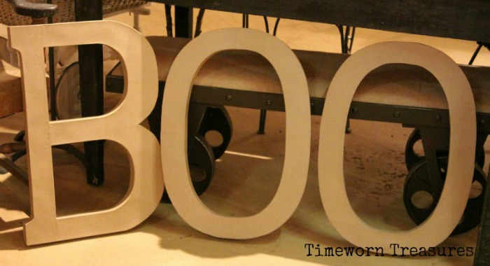 BOO - Large letters