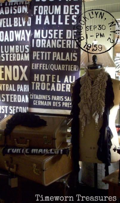 Jewelry & Scarf display - Timeworn Treasures