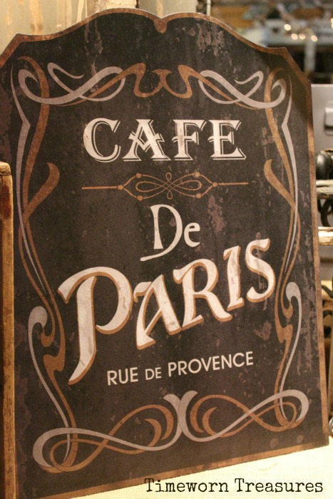 Paris cafe sign