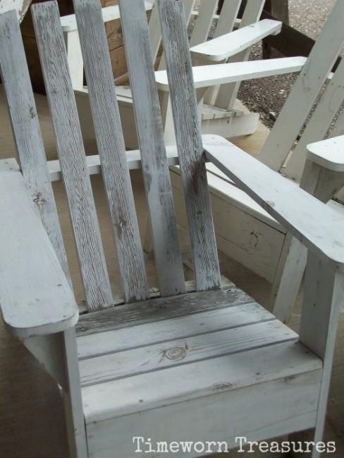 Old adirondack chairs