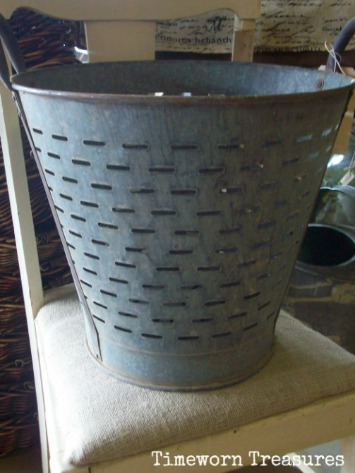 Antique olive basket