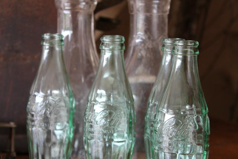 Antique Coke soda bottles