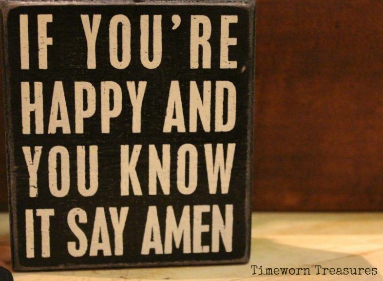 Amen sign
