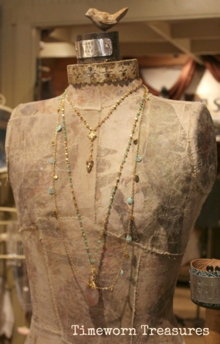 Jewelry on dressform
