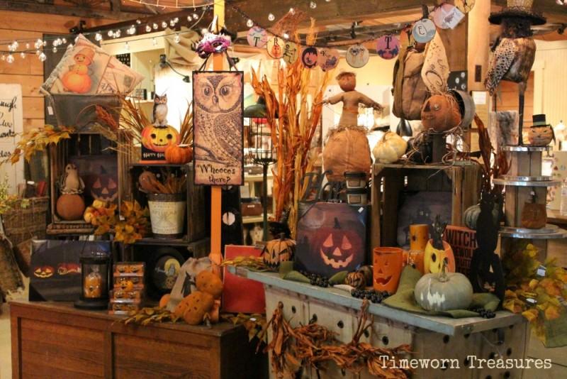 Fall & Halloween display