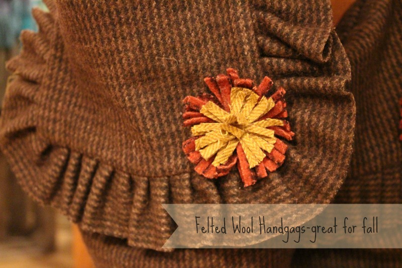Wool handbags