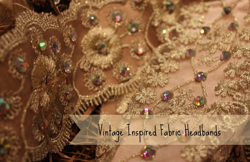 Vintage inspired fabric headbands