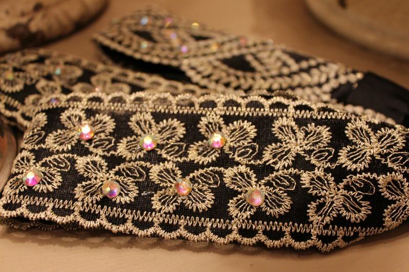 Black vintage inspired headbands