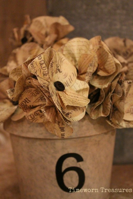 Paper flowers with writing