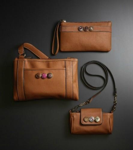 Gingersnap leather handbags and wristlet