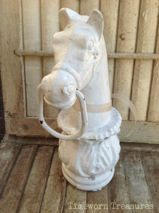 Antique horse hitching post