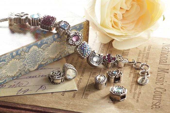 Poesy slide charm bracelet
