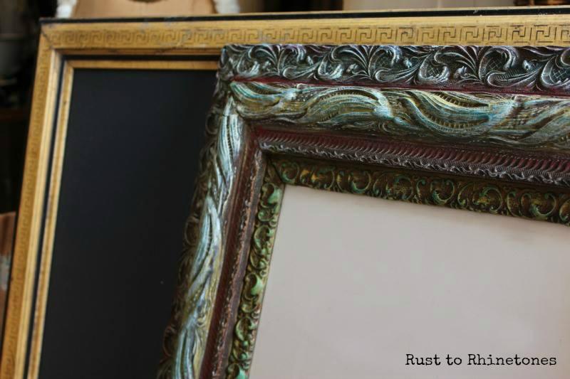 Repurposed antique frames