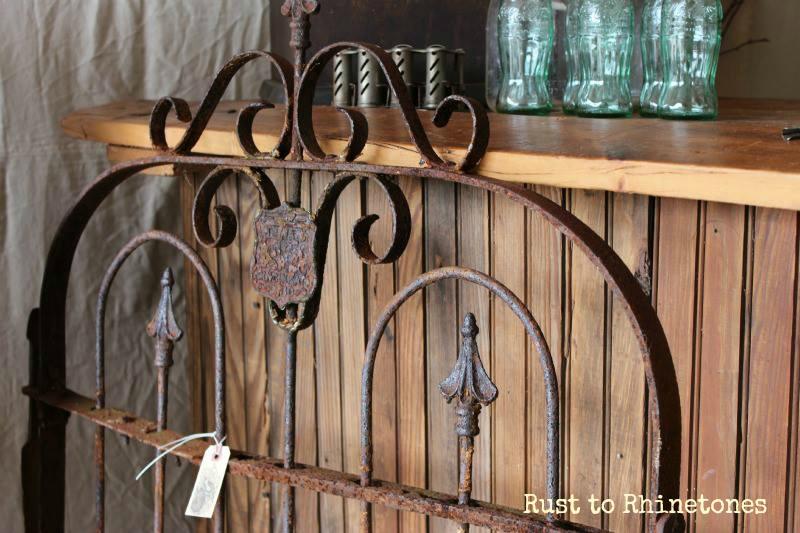Ornate rusty gate