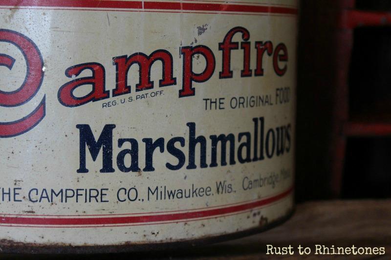 Vintage marshmallow tin