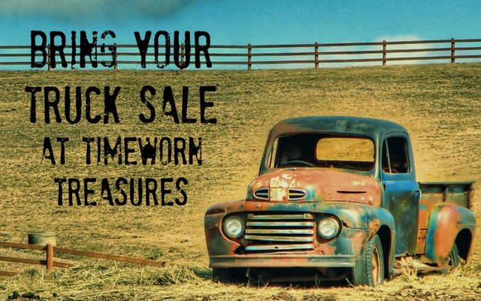 Bring Your Truk Sale