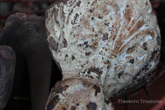 Ornate antique tub feet