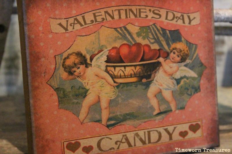 Vintage inspired Valentine canvas
