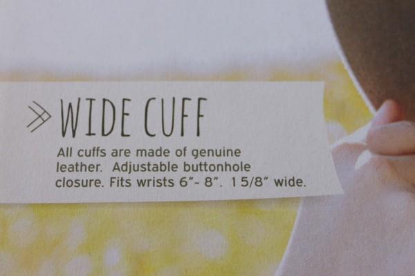 Wide cuff