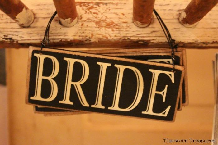 Bride sign