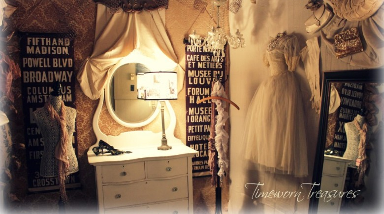 Vintage vogue dressing room