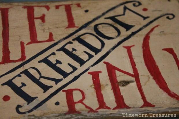 Handpainted patriotic sign