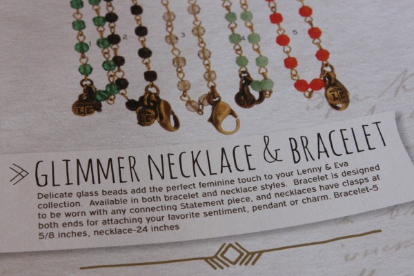 Glimmer necklace & bracelet