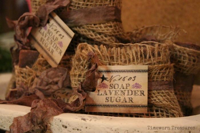 Lavender sugar soap
