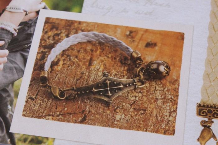 Leather link bracelet