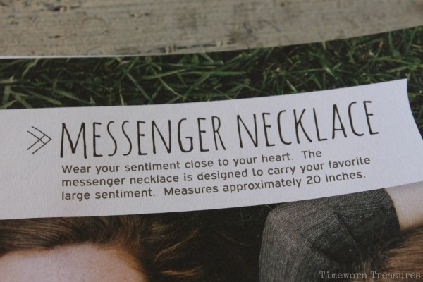 Messenger necklace