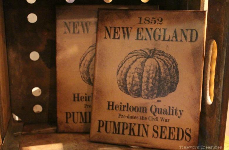 Pumpkin seeds canvas