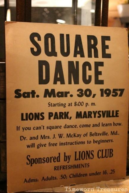 Vintage Square dance poster