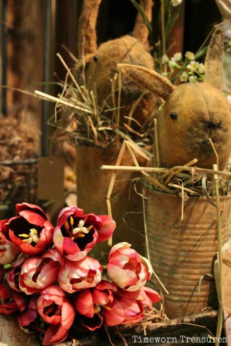 Rabbits & tulips