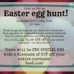 Egg Hunt & Easter Bonnet Contest – Sat. April 12th, 2014!