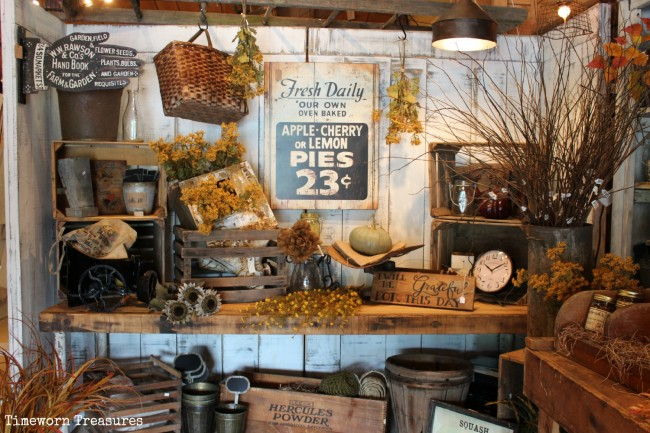Another new fall display for Store window decorations